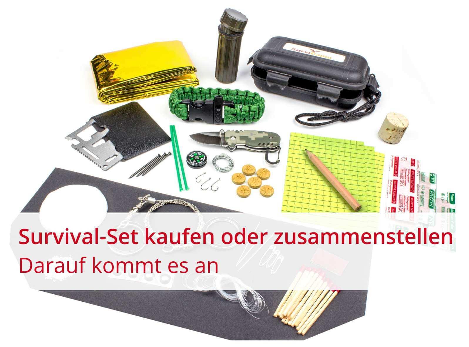 survival kit kaufen notfall set online bestellen survicamp. Black Bedroom Furniture Sets. Home Design Ideas